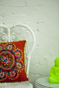 RED CIRCLE OF LIFE Circle Of Life, Cushions, Pillows, Color Splash, Vibrant, Colours, Red, Handmade, Design