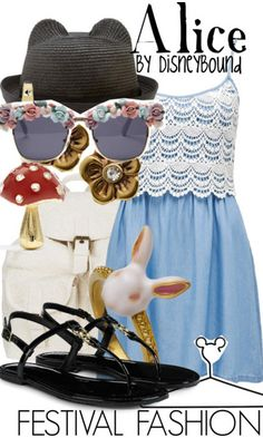 Those sunglasses are gross. Disney Inspired Outfits, Disneybound Festival Fashion, The Dress