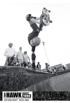Tony Hawk In The 90s Thrasher Skate Skateboard Pictures Old School Skateboards Tony