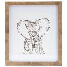 Baby Elephant Framed Wall Art   Hobby Lobby   1298207