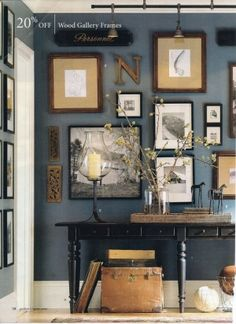 My inspiration for a picture wall from Pottery Barn by pauline