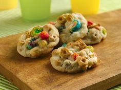 These crunchy cookies can be made with whatever cereals you have on hand-- a great way to use up nearly empty boxes of cereal!