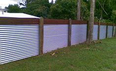 corregated metal fence