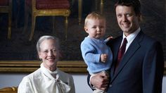 Three generations of the Danish Royal Family: HM Queen Margrethe II, HRH Crown Prince Frederik and HRH Prince Christian.    Photographer: Tine Harden