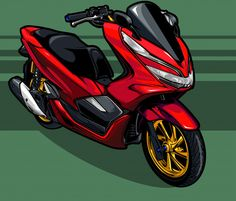Discover thousands of Premium vectors available in AI and EPS formats Motorcycle Art, Bike Art, Big Lebowski Poster, Honda Pcx, Vector Design, Logo Design, Motor Logo, Bob Marley Art, Motorbike Design