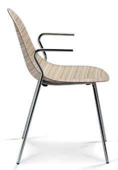 contemporary chair with armrests LUNA by B.Cisotti & S.Laube PLANK