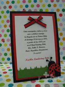 La pequeña Nashla celebró su primer añito en Baní con una divertida fiesta y el tema era uno de mis favoritos: La mariquita o Ladybug. La i...