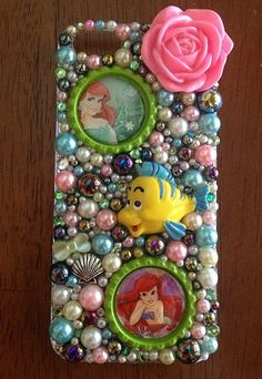 Ariel.   Disney   Cellphone case   See my shop on etsy :  Www. Etsy.com/shop/heartslover   I can make anything in any case I keep iPhone cases In stock and will order any case and the turn around to get a case to you is 7-10 days !!! 25 $ and up. Depending on case and 1.70 shipping  I can make any team Any color any time !!