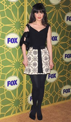 Zooey Deschanel at the Fox All Star Party