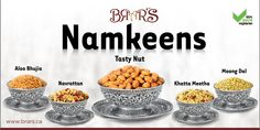 BRAR'S Namkeens(Snacks) comes in six unique flavors, each blend caters to a different taste bud. Great snack for anytime of the day. #brars #namkeens #snacks
