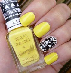 15 Lindos Diseños de Uñas en color Amarillo para el Verano - Manicure