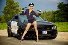 Police Woman with Saleen Ford Mustang by Gergő Antal on 500px