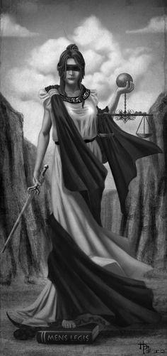 Themis era a deusa Titan da lei e da ordem divina - as regras tradicionais de conduta estabelecido pela primeira vez pelos deuses. Ela também foi uma deusa profética que presidiu os oráculos mais antigos, incluindo Delphoi.