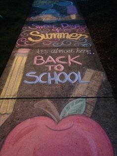 Back to School sidewalk chalk