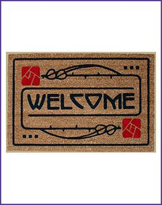 Mackintosh Design - Arts and Crafts Dard Hunter Design Rose Motif Doormat, $47.95 (http://www.mackintoshdesign.com/arts-and-crafts-dard-hunter-design-rose-motif-doormat.html)