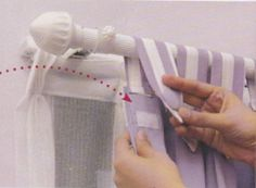 Excelente idéia para prender a cortina                                                                                                                                                                                 Más                                                                                                                                                                                 More