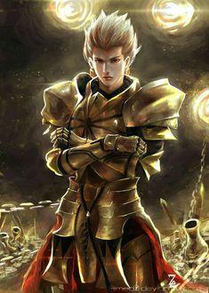 Gilgamesh by AimedZ on DeviantArt Gilgamesh And Enkidu, Gilgamesh Fate, Fanarts Anime, Anime Manga, Anime Guys, Fate Anime Series, Fantasy Characters, Fictional Characters, Fate Zero