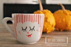 Cómo hacer la taza más divertida para el desayuno   el taller de las cosas bonitas   pintar porcelana