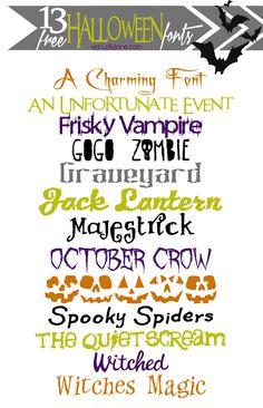 13 cute & spooky FREE Halloween fonts #freefonts #halloween