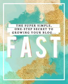 Blogging Tips | How to Blog | The Super Simple, One-Step Secret to Growing Your Blog FAST #blogging