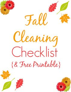 Fall Cleaning Checklist + Free Printable: Just what you need to prep your home for winter, inside and out.