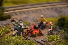 Hobos O (wooa2734) Woodland O Scale Model Railroad Figures