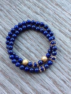Lapis Lazuli Bracelets 2 Layered Lapis Lazuli and by BBTresors