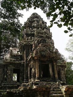 Ta Keo (Khmer: ប្រាសាទតាកែវ) is a temple-mountain, in Angkor (Cambodia), possibly the first to be built entirely of sandstone by Khmers.