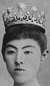 Empress Shōken of Japan's Meiji Scroll Tiara now worn by Empress Michiko of Japan