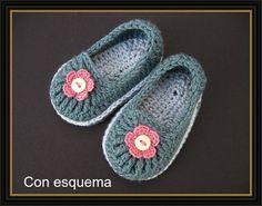 Delicadezas en crochet Gabriela: Tutorial : Zapatillas en crochet incluye 7 modelos para adultos y niños