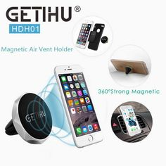 New Auto Car Holder Mini Air Vent Mount Magnet Magnetic Phone Mobile Holder Universal For iPhone 5 6 6s Samsung Car Holder Stand