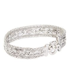 Look what I found on #zulily! Sterling Silver Byzantine Chain Bracelet #zulilyfinds