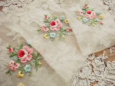 Eglantyne - beautiful lace and embroidered roses
