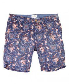 Scotch & Soda Navy 14010381116 Batik Print Shorts
