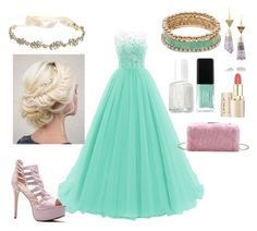 """prom"" by unafebun-1 on Polyvore featuring Marchesa, Essie, JINsoon and Kevia"