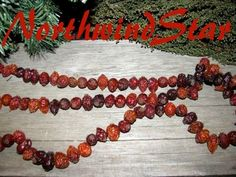 Primitive Dried Rosehips Garland Early Style 4 by northwindstar