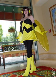 My Wasp (Avengers: Earth's Mightiest Heroes) costume, from 2012! // Construction info and more Cosplay photos at kelldar.com