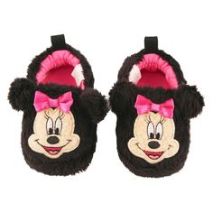 4751f3b6fcc3 Baby Girls' Disney Minnie Mouse Bootie Slippers Black 9-12M Minnie Mouse  First Birthday