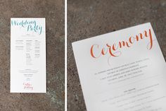 Modern Wedding package | Modern Wedding Invitations by Atheneum Creative via Oh So Beautiful ...