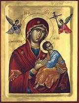 Greek orthodox Icons of the Most Holy and Ever-Virgin Theotokos, Mary, Panagia Archangel Gabriel, Archangel Michael, Orthodox Calendar, Prayer For Family, Russian Icons, Life After Death, Crown Of Thorns, Blessed Virgin Mary, Orthodox Icons