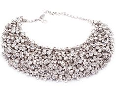 Swarovski Crystal | Necklace With Genuine Swarovski Crystals in Silver Swarovski Crystals ...