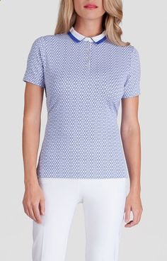 Check out what Loris Golf Shoppe has for your days on and off the golf course: Serenity Print Tail Ladies Essentials Elizabeth Golf Polo Shirt