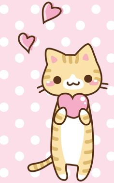 Pink Kitty ★ Find more Super Cute Kawaii wallpapers for your #iPhone + #Android @prettywallpaper