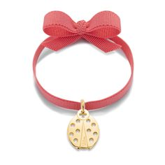 Dressed up with a rubon on your wrist? Many nice pendants and bright colours to choose! #lilou #bracelet #pink #goldplated #present