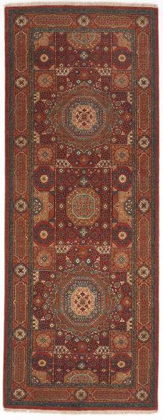 NLR 241- Handmade Indian Runner rug. 3'x 8' #Handmade