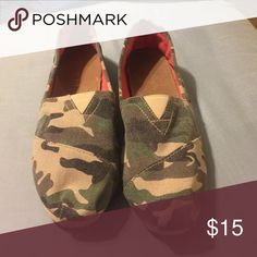 Madden girl camo shoes Madden girl camo slip on shoes size 10 in excellent condition Madden Girl Shoes Espadrilles