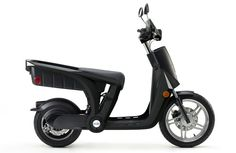 """The cargo space in the back of a GenZe is big enough to haul groceries, which is why the maker, Mahindra, calls this a """"pickup scooter."""""""