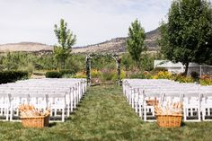 Romantic outdoor orchard wedding ceremony: http://www.stylemepretty.com/oregon-weddings/medford-oregon/2015/11/06/romantic-southern-oregon-orchard-wedding/ | Photography: Olivia Leigh - http://www.olivialeighphotoart.com/