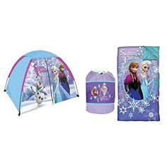 Disney Frozen 3pc Summer Play and Sleep Set with Dome Tent Sleeping Bag and Sling Bag @ niftywarehouse.com #NiftyWarehouse #Frozen #FrozenMovie #Animated #Movies #Kids