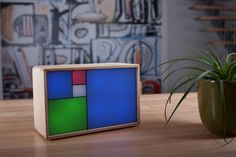 Philippe Chrétien is raising funds for Fibonacci Clock - An open source clock for nerds with style on Kickstarter! The first of its kind. Powered by Arduino. Available as a DIY kit or fully assembled. High Tech Gadgets, Blue Square, Open Source, Diy Kits, Arduino, Decoration, Red And Blue, Diy Projects, Project Ideas